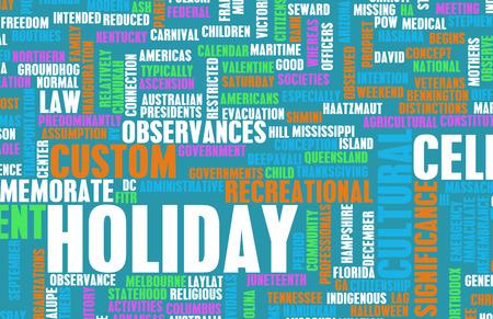 Going on Urlaub oder ein gesetzlicher Feiertag als Konzept