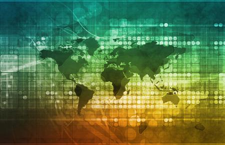 conceptual maps: Estrategia de Negocios Global y Desarrollo como concepto Foto de archivo