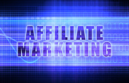 affiliate: Affiliate Marketing on a Tech Business Chart Art Stock Photo