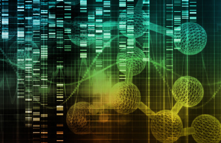 genetically engineered: Genetic Engineering as a Science Concept Art Stock Photo