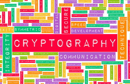 specialised: Cryptography as a Specialized Field of Studies Stock Photo