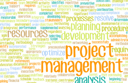 Project Management or a Project Manager as Concept photo