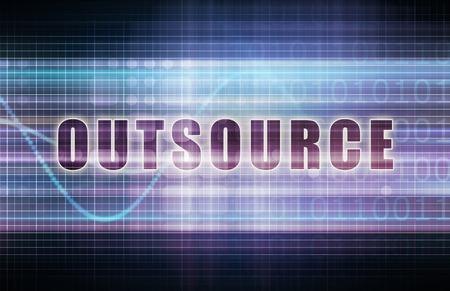 outsource: Outsource on a Tech Business Chart Art