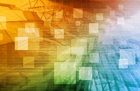 Computer Science als een abstracte achtergrond kunst Stockfoto