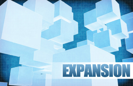 Expansion on Futuristic Abstract for Presentation Slide 免版税图像