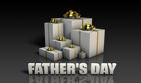 Fathers Day Gifts With Elegant Gold Ribbons