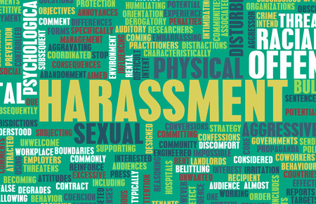 violence in the workplace: Harassment in its Many Forms and Types Stock Photo