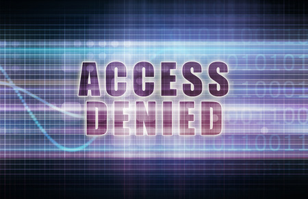 denied: Access Denied on a Tech Business Chart Art