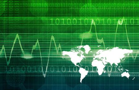 navigating: Navigating Cyberspace with Binary Data Glowing Art Stock Photo