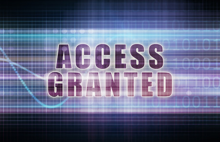 access granted: Access Granted on a Tech Business Chart Art