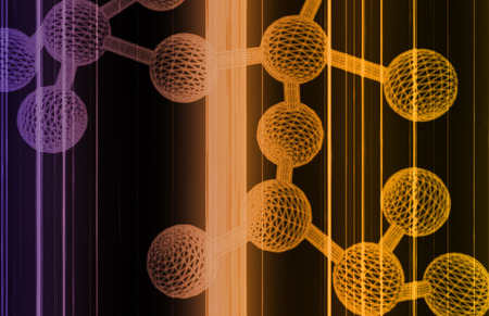 encoded: Science Background with a Atom Cell Structure Stock Photo