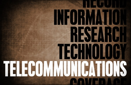 terminology: Telecommunications Core Principles as a Concept Abstract Stock Photo
