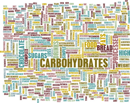 removing: Carbohydrates Weight Loss Concept with Removing It