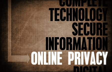 core: Online Privacy Core Principles as a Concept Stock Photo