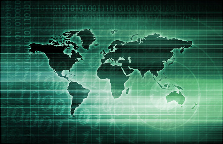 middleware: Routing Information Protocol and Technology Setup Abstract Stock Photo