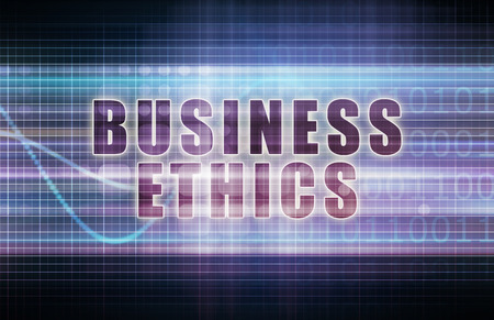 business ethics: Business Ethics on a Tech Business Chart Art
