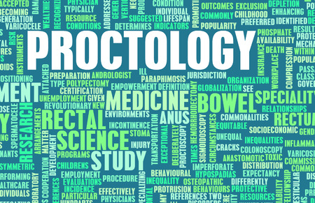 proctologist: Proctology or Proctologist Medical Field Specialty As Art