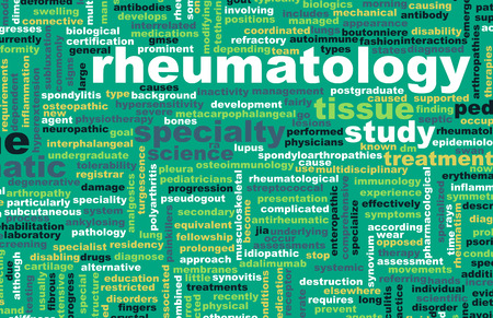 medical field: Rheumatology or Rheumatologist Medical Field Specialty As Art Stock Photo