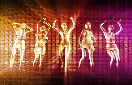 ディスコの電子音楽テクノ パーティー背景アート 写真素材