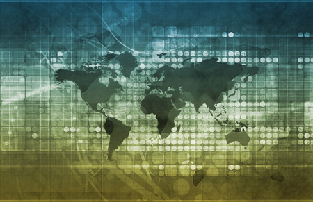 국제 무역 조약과 경제 개발 예술 스톡 콘텐츠