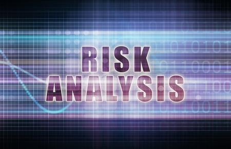 risk analysis: Risk Analysis on a Tech Business Chart Art