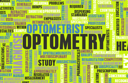 optometry: Optometry or Optometrist Medical Field Specialty As Art