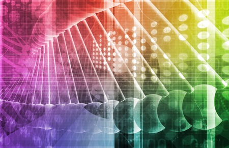 strand: DNA Background with a Science Helix Strand