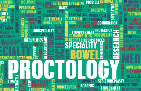 medical field: Proctology or Proctologist Medical Field Specialty As Art