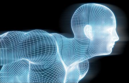 Fitness Technik Wissenschaft Lifestyle als Konzept Lizenzfreie Bilder
