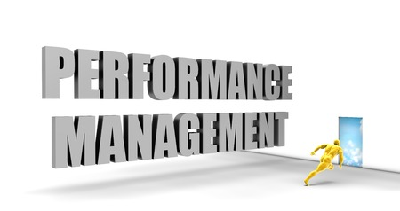 management concept: Performance Management as a Fast Track Direct Express Path Stock Photo
