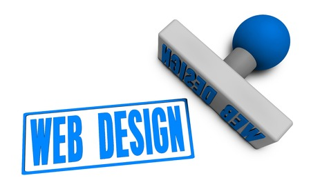 chop: Web Design Stamp or Chop on Paper Concept in 3d