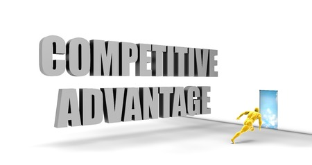 competitive advantage: Competitive Advantage as a Fast Track Direct Express Path Stock Photo
