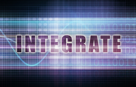 integrate: Integrate on a Tech Business Chart Art