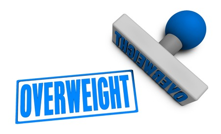 reviewed: Overweight Stamp or Chop on Paper Concept in 3d Stock Photo