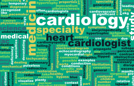 medical field: Cardiology or Cardiologist Medical Field Specialty As Art Stock Photo