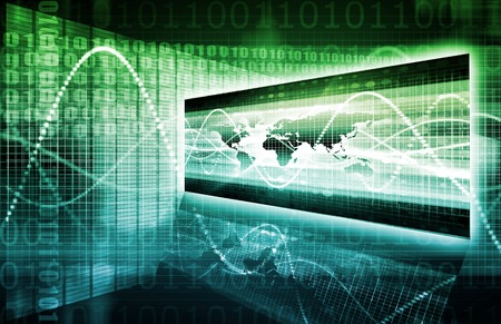 security technology: Software Security in Technology System Data Art Stock Photo
