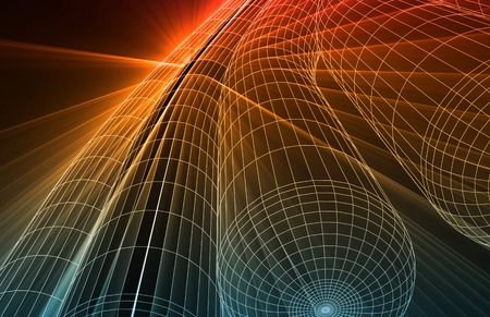 4g: Futuristic Technology as a Next Generation Art Stock Photo