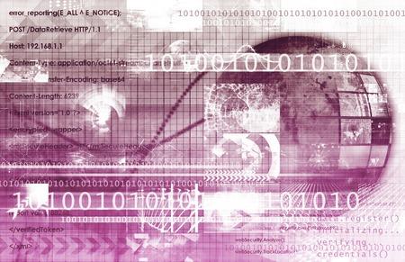 digital world: Technology Services on World Map Digital Art