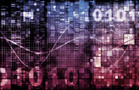 Technology Theme or Themed Background with Binary Data