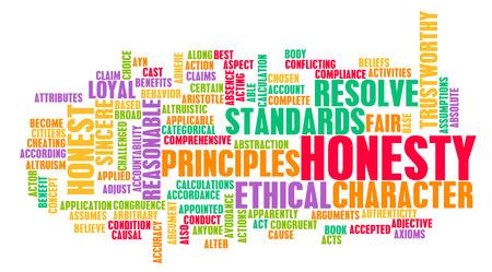 honestidad: La honestidad y carácter digno de confianza de una Persona