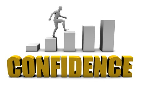 confidence: Increase Your Confidence  or Business Process as Concept Stock Photo