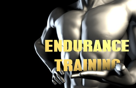 endurance: Endurance training With a Business Man Holding Up as Concept Stock Photo