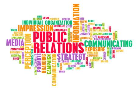 relaciones publicas: Relaciones Públicas o PR como un concepto de marketing Foto de archivo