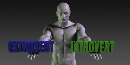 extrovert: Extrovert vs Introvert Concept of Choosing Between the Two Choices