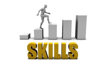 Mejorar sus habilidades o de procesos de negocio como concepto Foto de archivo - 44100415