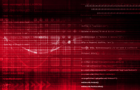 corporate espionage: Secure Technology and Protect Data Information Concept Stock Photo