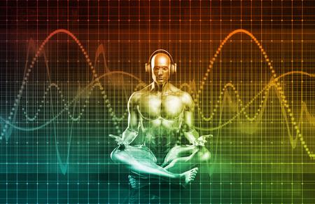 sonido: Experience Music inmersiva y rendimiento como un concepto Foto de archivo