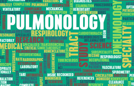 specialty: Pulmonology or Pulmonologist Medical Field Specialty As Art Stock Photo