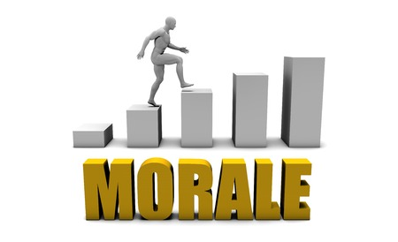 morale: Improve Your Morale  or Business Process as Concept Stock Photo