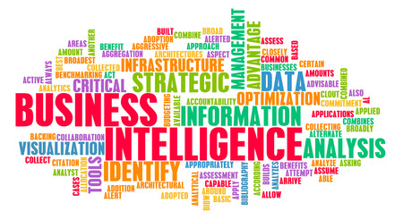 Business Intelligence Informationstechnologie-Tools wie Kunst Standard-Bild